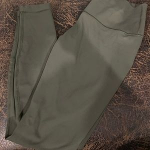 Dark Olive Green Lululemon Wunder Unders